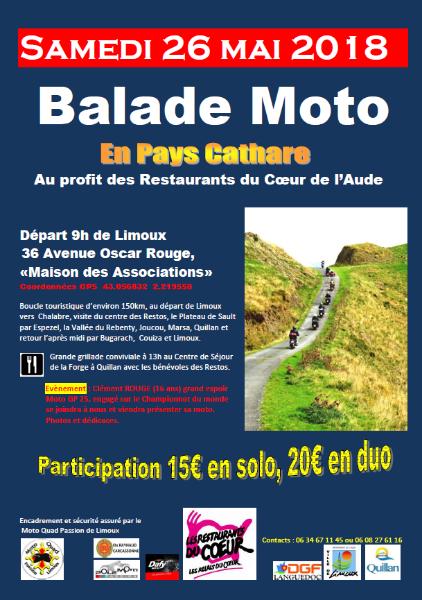 26 mai 2018 : BALADE MOTO - Restos du Cœur de l'Aude File
